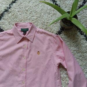 Lauren Ralph Lauren pink button down shirt